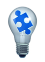 light bulb puzzle isoalated